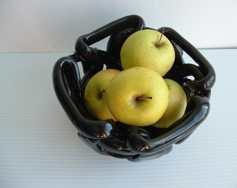 Bowl with holes pottery puzzle bowl fruit bowl bread warmer decorative accent orchid pot
