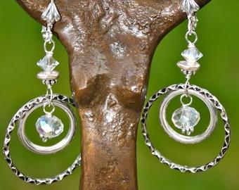 Crystal Clear Persuasion Double Hoop Earrings