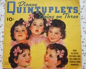 """Dionne Quintuplets """"Going on Three"""" Book 1936 Quints Canadian Multiples"""