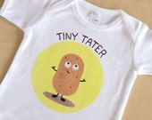 Tiny Tater Short Sleeve One-Piece Bodysuit or T Shirt for Boy or Girl