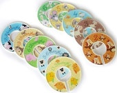Size 0-6 Clothing Closet Dividers - Complete Set of 10 Funny Farm  Dividers