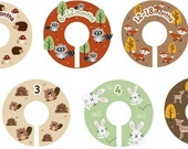 Size 0-6 Clothing Closet Dividers - Complete Set of 10 Forest Friends Dividers