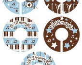 Rock and Roll Rockstar Closet Clothing Dividers