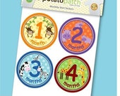 Baby Monthly Shirt Stickers - Zoo Animals Unisex for Boys and Girls