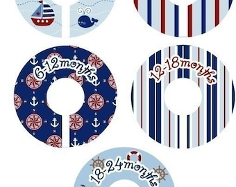 Closet Dividers - Nautical Sailor