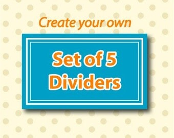Create Your Own Set of 5 Closet Clothing Dividers