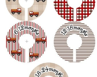 Baby Closet Clothes Dividers Organizers -Fire Truck