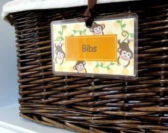 Set of 6 Basket Tag Labels - Design your Own