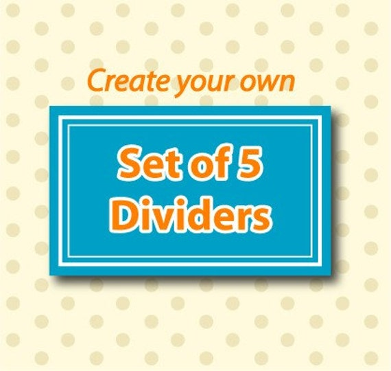create your own set of 5 closet clothing dividers. Black Bedroom Furniture Sets. Home Design Ideas