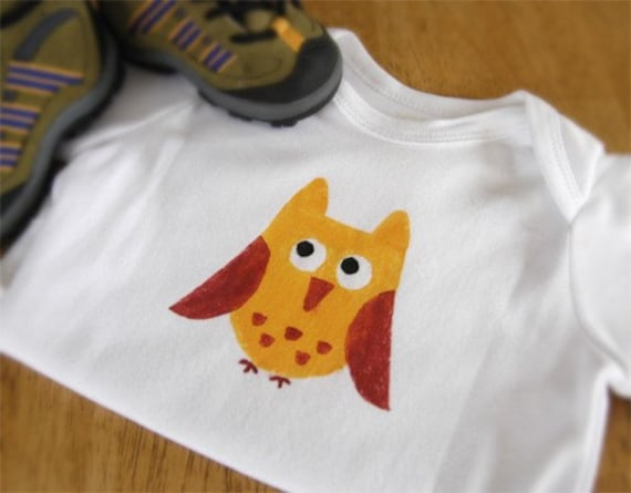 Owl Long Sleeve One-Piece or Shirt