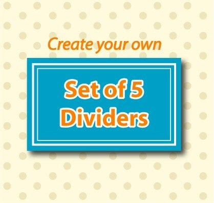 Create your own set of 5 closet clothing dividers for Design your own closet