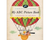 SALE - 1954 - My ABC Picture Book - Vintage Blue Angel Picture Book
