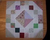 Jewel Box Quilt Blocks - Set of 12 - 16 1/2 inches