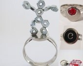 YOU Are Sooo Attractive - Sterling changeable neodymium magnet ring