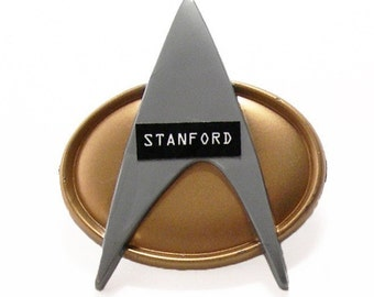 Personalized Star Trek Next Generation Insignia Badge Pin - Recycled Play Stands