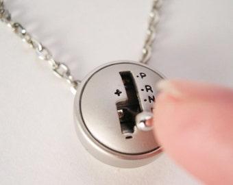 YOU Drive Me Crazy - Moving Mini Stick Shift Necklace