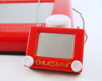 YOU Are Soooo Fun - REAL Working Mini Etch A Sketch Necklace