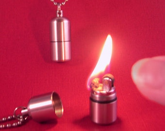 Teeny Lighter Necklace- Smallest YOU Will Ever Find