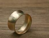 14k Gold Cuff Ring, wedding band