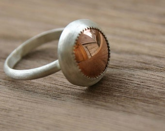 Copper Jewel Ring (small)