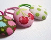 Reserved for kcorken CYBER MONDAY SALE Pink and Green Ponytail Buttons