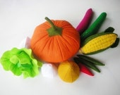 Lovely Vegetables Set 1 PDF Felt Sewing Pattern