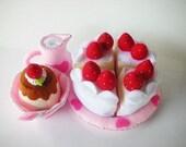 Princess Tea Party 2 Sewing Pattern PDF (Bowl, Jug, Custard, Cake and Plate)