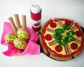 Happy Pizza  PDF Felt Food Sewing Pattern