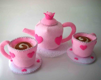 Princess Tea Party Sewing Pattern PDF (Tea cup and pot)