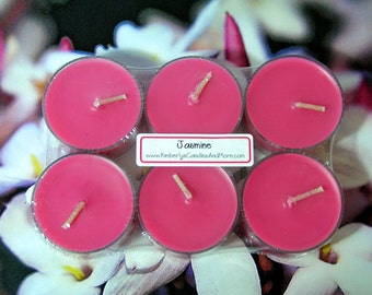 Jasmine PURE SOY Tea Lights (Set of 6)