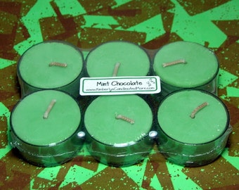 Mint Chocolate PURE SOY Tea Lights (Set of 6)