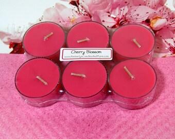 Cherry Blossom PURE SOY Tea Lights (Set of 6)