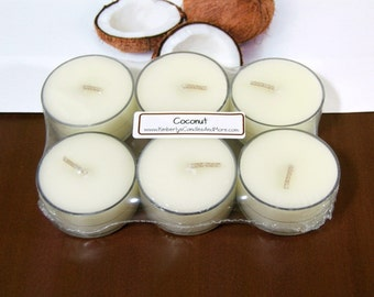Coconut PURE SOY Tea Lights (Set of 6)