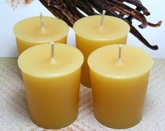 Vanilla Bean Votive Candles PURE SOY (Set of 4)