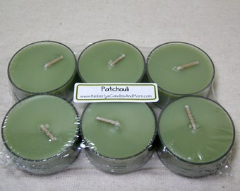 Patchouli  PURE SOY Tea Lights (Set of 6)