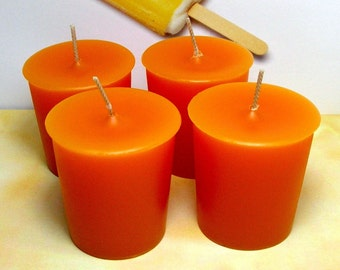 Dreamsicle Votive Candles PURE SOY (Set of 4)