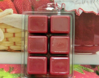 Strawberry Jam Breakaway Clamshell Soy Wax Tart Melts
