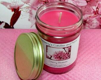 Cherry Blossom PURE SOY Mason Jar Candle