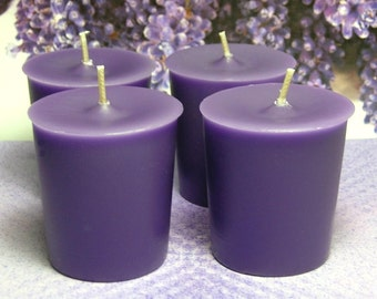 Herbal Lavender and Lemongrass PURE SOY Votives (Set of 4)