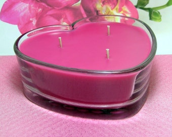 Freesia PURE SOY 16 oz Heart Container Candle