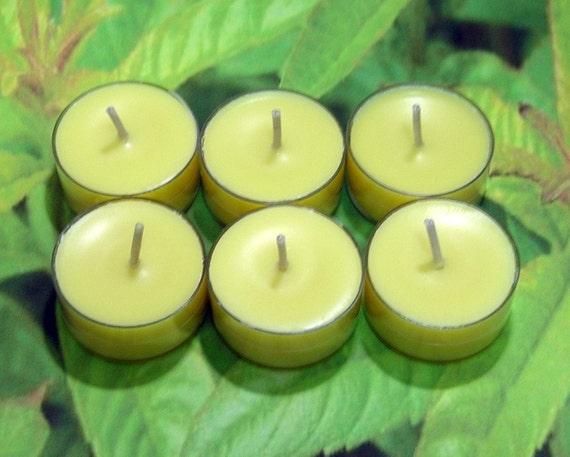 Lemon Verbena PURE SOY Tea Lights (Set of 6)