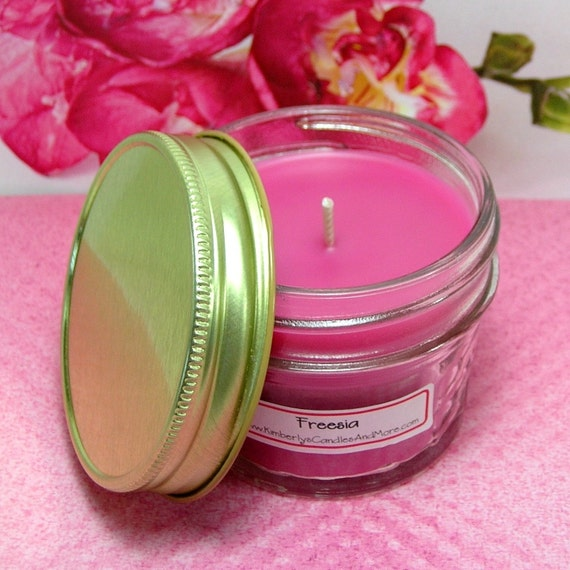 Freesia PURE SOY 4 oz Jelly Jar Candle