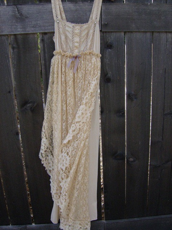 Vintage Hippie Chic Dresses Wedding Boho Chic Wedding Gown