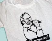 Hand Painted Neil Diamond Singing Baby Bodysuit or Kid's T-Shirt (newborn-kid's 6/8)