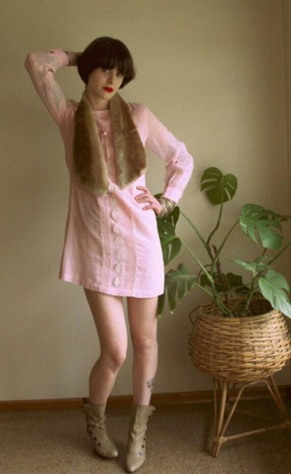 Vintage pale pink babydoll dress