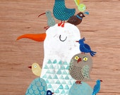 Bird King A4 print
