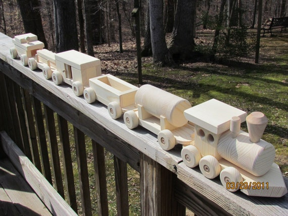 Train Set 6 Car  All Natural 5 Foot Long On Sale On Sale 35.00 off