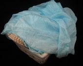 Playsilk 35x108 inches Blue Koolaid Dyed