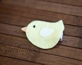 50% OFF - Entire Store - One Yellow Felt Bird Hair Clip - More Colors Available