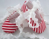 50% OFF Size 3-9 Months - Ballet Baby Booties Candy Cane